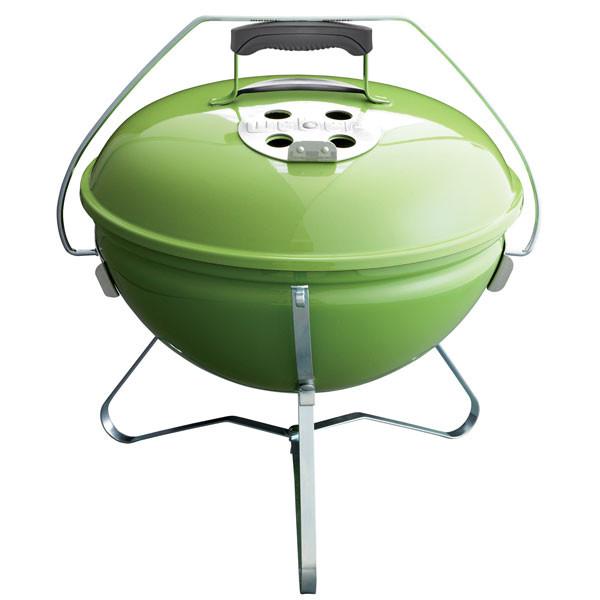 Gril Weber na dřevěné uhlí Smokey Joe - zelený (Spring Green)