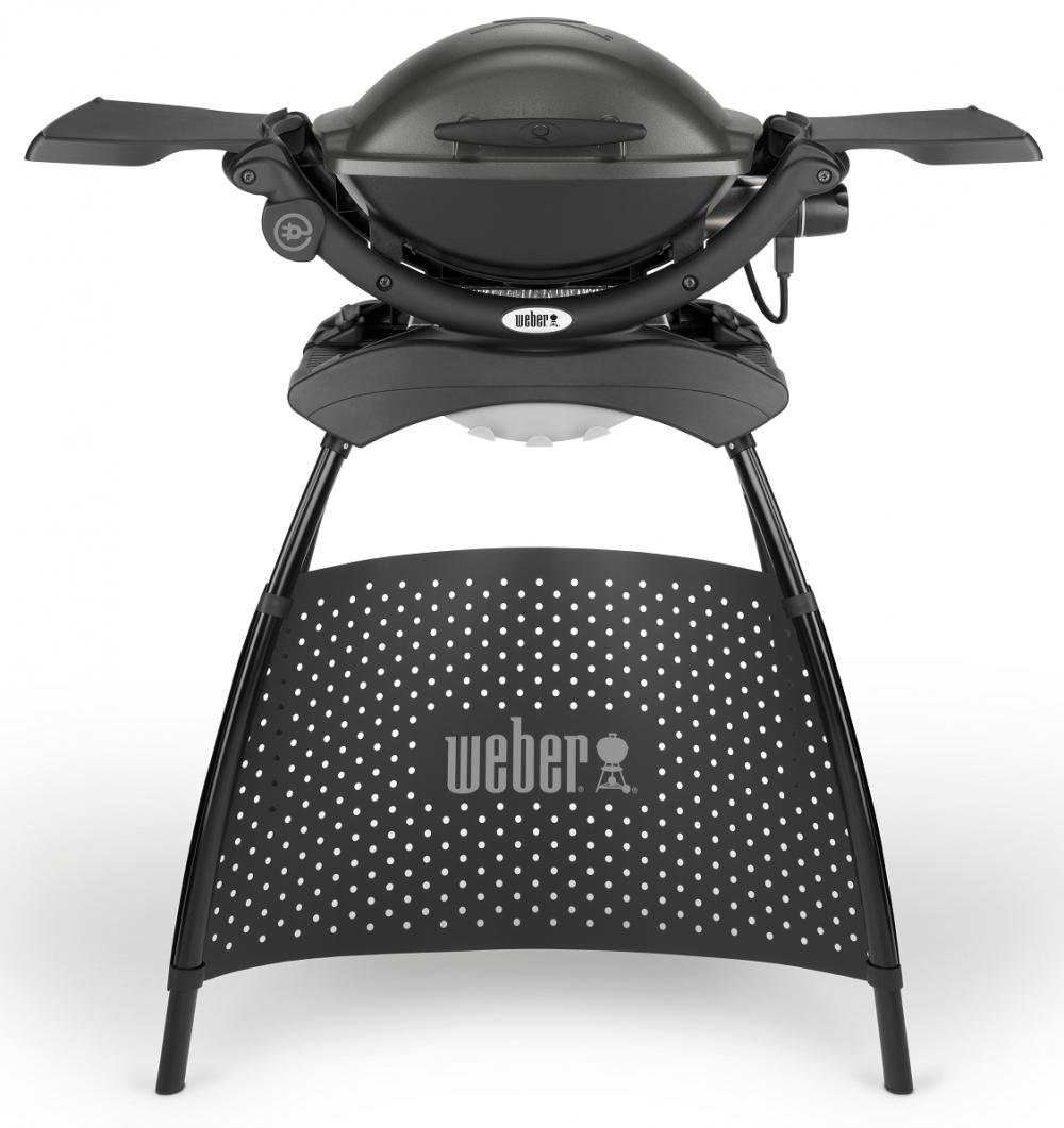 Elektrický gril Weber Q 1400 Stand - tmavošedý (Dark Grey)